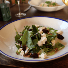Goats cheese and beetroot salad