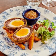 Black pudding & braised ham hock Scotch egg